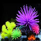 Hinmay Silicone artificiale Sea Aquarium ornamenti Fake Sea Plant/corallo fiore acquario decorazione ornamento per Fish Tank 2PCS