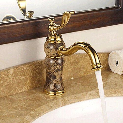 Titan Kaffeemaschine (LHbox Die Gold-Kupfer Kaltes Wasser die Oberfläche auf der Jade doppelwaschbecken Antike Badezimmer Schrank Antike Badezimmer, Kaffeemaschine Titan)
