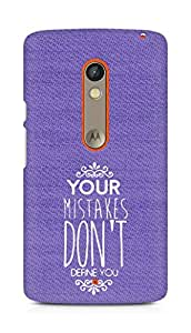 AMEZ your mistakes dont define you Back Cover For Motorola Moto X Play