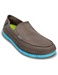 crocs Men's Stretch Sole M Dusty Olive and Cobblestone Casual Loafers and Mocassins