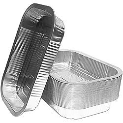 Bacs à grill en aluminium | Parfaits pour Weber | Bols à égouttures en aluminium de haute qualité | Bacs à grillades | 25 pièces