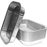 Bandejas de aluminio para barbacoa, alta calidad, 25unidades, aptas para Weber