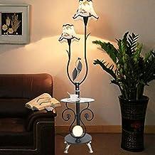 AMOS Moderne Minimalistische Couchtisch Stehlampe Mode Wohnzimmer  Schlafzimmer Beleuchtung Mit Uhr Tischlampe ( Farbe : Schwarz