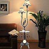 AMOS Moderne minimalistische Couchtisch Stehlampe Mode Wohnzimmer Schlafzimmer Beleuchtung mit Uhr Tischlampe ( Farbe : Schwarz )