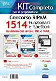 Kit completo per il concorso RIPAM 1514 Funzionari e Ispettori nel Ministero del lavoro, nell'INL e nell'INAIL. Manuale e Test per la prova preselettiva. Con software di simulazione