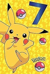 Pokemon 7. Geburtstagskarte Pikachu: Amazon.de: Spielzeug