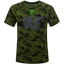 Valentino Rossi VR46 Moto GP Monster Camp Edition Camo Camiseta Oficial 2018
