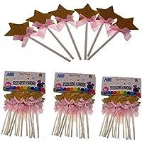 PICCOLI MONELLI Stuzzicadenti in plastica per Feste Compleanni Bambini per  dolcetti aperitivi 18 pz Rosa dfa1d06e49bf