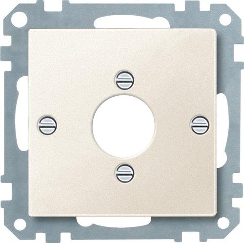 Merten 469444 Zentralplatte für Audio-Stecker XLR, weiß, System M