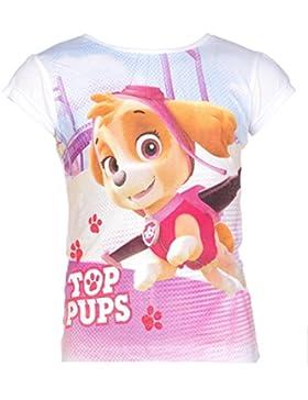 Paw Patrol T-Shirt für Kinder, original Lizenzware, weiß, Gr. 98 - 116