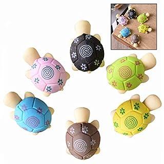 LHKJ 20 Stücke Schildkröte Radiergummis, Radiergummi Radierer Set für Kinder Zufällige Farben