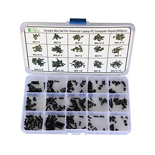 Ogquaton 300 Stücke Schraubensatz Schrauben Box für Universal Laptop PC Computer Reparatur Kit Langlebig und Nützlich