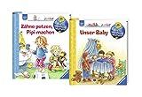 Ravensburger Junior Bücher Set - Wieso? Weshalb? Warum? Zähne putzen, Pipi machen und Unser Baby