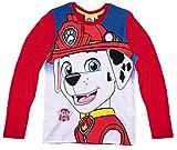 La Pat' Patrouille T-Shirt Manches Longues garçon Marshall' Rouge de 3 à 8ans (6 Ans)