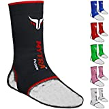 Mytra Fusion Muay Thai Ankle Support Kick Boxing Ankle Sprain Injury Pain Releife Elasticated Braces (L/XL, Black)