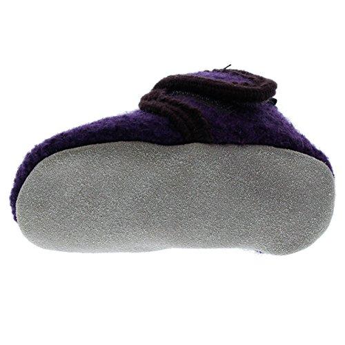 CelaVi Baby Kinder Wollschuhe Krabbelschuhe Lauflernschuhe Hausschuhe Deep Purple
