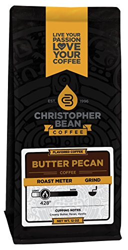 Christopher Bean Coffee Flavored Ground Coffee, Butter Pecan, 12 Ounce 51cgVMA9yvL