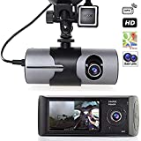 Grewtech 6,9 cm TFT LCD HD Car Dash camera DVR GPS Dual Cam camera W/Google maps, G-Sensor, visione notturna, comando monitor, grandangolo, crash Detection, 32 GB RAM