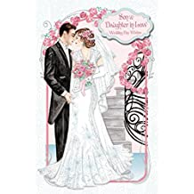 Write From The Heart Art Deco ~ Son & Daughter in Law Wedding Day Wishes ~ Large Boxed Luxury Wedding Day Card