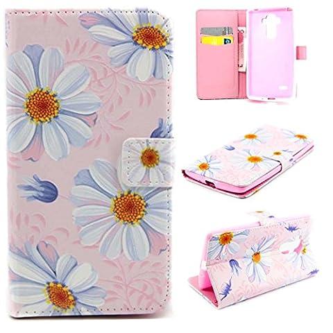 Jepson LG G4 Stylus / G Stylo LS770 (5,7 Zoll) Lederhülle Flip Case / Cover / Handyhülle. Bunt Nette romantische Muster und PU leder Folio Folding Bookstyle Schutzhülle - hülle mit Standfunktion, Brieftasche und Karte Tasche.