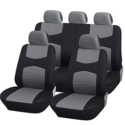 Coprisedili auto universali con copri volante e copri cintura in tinta con i sedili - a19 - per auto con sedili standard medio piccoli