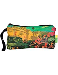 Eco Corner - Indian Art Palace - Pouch - Small - 100% Cotton / Washable / Printed On Both Sides / Zip Closure...
