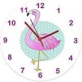 Flamingo Clock, Girls Clock, Girls Gifts, Clocks UK, Children's Clock, Kids Clock, Bedroom Clocks, Pink Clock, Cute Clocks