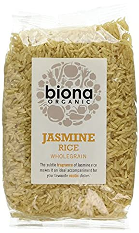 Biona Organic Jasmine Brown Rice 500 g (Pack of
