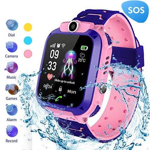 MUXAN Kinder Smartwatch wasserdichte IP67 Smart Armbanduhr Mit SOS Wecker Digitaluhr Kamera Taschenlampe Spiele Für Kinder Kompatibel Mit iOS/Android