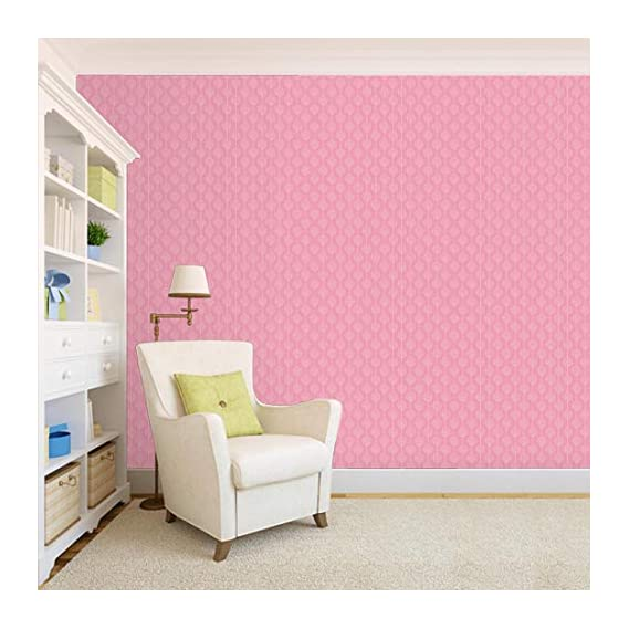 100Yellow? Printed Wallpaper Pattern Self Adhesive Peel And Stick Waterproof Hd Wallpaper (Pvc Vinyl, 26.7 Sqft, Pink)