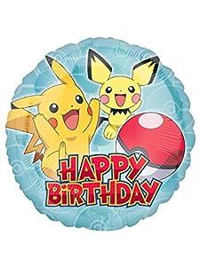 Amscan International 3633301 Pokemon Happy Birthday - Globo de papel de aluminio