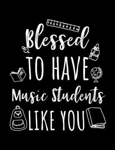 Blessed To Have Music Students Like You: Music Teacher Appreciation Doodle Sketch Book por Dartan Creations