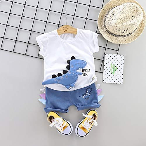 Muster Kostüm Wonder Rot - Deykhang_Baby Unisex Kids Cute Cartoon Sommer Dinosaurier Print Kurzarm T-Shirt Hosen Set