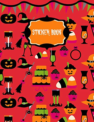 Sticker Book: Halloween Party Sticker Book for Kids ~ Creativity Journal with Blank Pages, Large Diary di Spooky Thingy Press