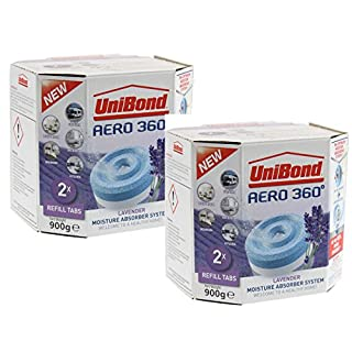 Unibond Aero 360 1989246 4 x 450 g Lavender Refills Dehumidifier