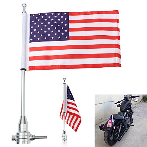 otorcycle American Usa Flag Stock Gepäck Rack Mount for Harley - Schwarz ()
