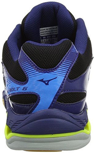 Mizuno Wave Bolt, Chaussures de Volleyball Homme Multicolore (Black/white/bluedepths)