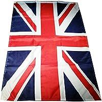 Drapeau Union Jack de Royaume Uni - Flag Britannique / 150 x 90 cm / Deux Œillets / Pour Intérieur ou Extérieur / Souvenir de Londres Angleterre