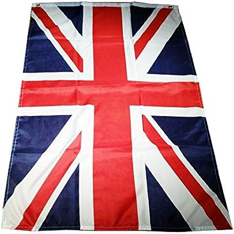 My London Souvenirs Bandera británica Union Jack, especial para fiestas y deportes, 152,4 x 91,44 cm aprox., incluye dos ojetes, apta para uso en exterior e