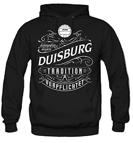 Mein leben Duisburg Kapuzenpullover | Freizeit | Hobby | Sport | Sprüche | Fussball | Stadt | Männer | Herren | Fan | M1 Front (XXL)