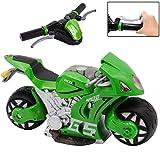 deAO Rdiocomande Moto de Course *GP* avec Batterie Rechargeable Incluse -Vert-