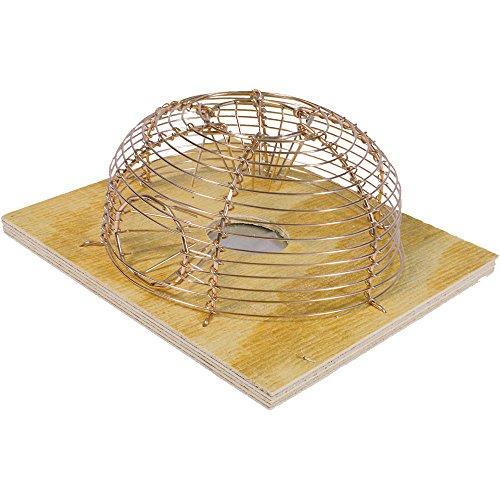Swissinno Solution Classique Cage Souris Rond, Beige/Argent, 15 x 8 x 15 cm