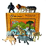 Lello and Monkey Safari animali giocattolo di plastica figure - set di 9 inscatolati