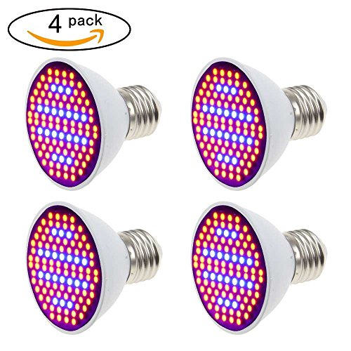 [4 Stück] Pflanzenlampe XJLED 5W LED Wachstumslampe SMD 2835 106LEDs Rotes Blaues Spektrum LED...