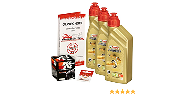 Castrol 10w 40 Öl K N Ölfilter Für Honda Vt 600 C Shadow 88 00 Pc21 Ölwechselset Inkl Motoröl Filter Dichtring Auto