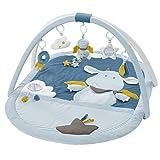 Fehn 065091 3-D-Activity-Decke Little Castle/Spielbogen mit 5 abnehmbaren Spielzeugen für Babys Spiel & Spaß von Geburt an/Maße: 85x110 cm
