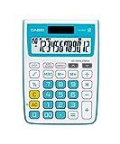Best Basic Calculators - Casio MJ-12VCB-BU Desktop Calculator (White and Blue) Review