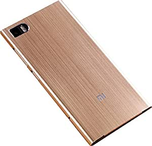 For Xiaomi Mi3 Hard Aluminium Metal Back Case Cover - Gold - Free Shipping
