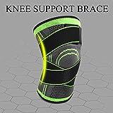 Lorenlli 3D Pressurized Fitness Bandage Support De Genou Brace Manches De Pad De Compression De Sports De Nylon Élastique pour Running Cycling