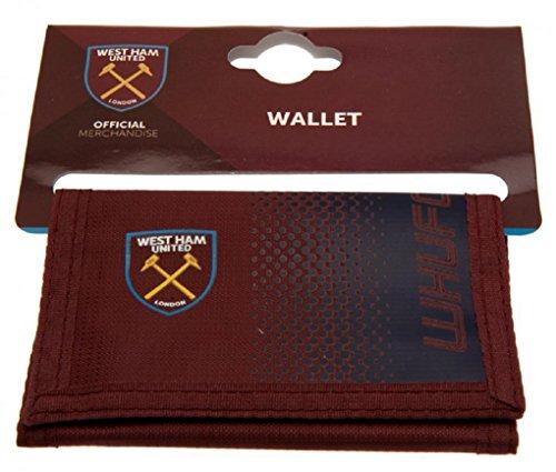 Fußball-Geldbörse, offizielles Merchandise, Klettverschluss (verschiedene Vereine zur Auswahl) West Ham United FC